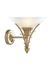 Searchlight Linea Antique Brass Wall Light Complete With Acid Shade