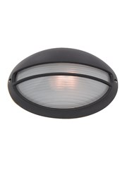 Searchlight Outdoor & Porch Black Oval Bulkhead Light - 60W