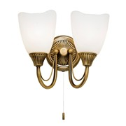 Endon Haughton Wall Light - 2 Light - Antique Brass