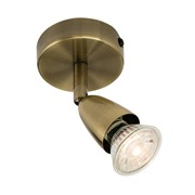 Endon Amalfi Single Spotlight - Adjustable - Antique Brass