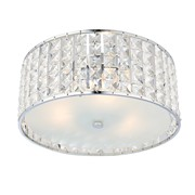 Endon Belfont Flush Bathroom Ceiling Light - Clear Crystal - IP44