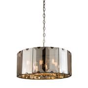 Endon Clooney Pendant Ceiling Light - Slate Grey & Glass - 8 Light