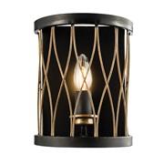 Endon Heston Rustic Wall Light - Black & Bronze