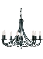 Searchlight Maypole  8  Light Ceiling Fitting - Matt Black