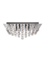 Searchlight Hanna 4 Light Square Fitting - Chrome - Round Crystals
