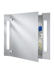 Searchlight Bathroom Mirror Cabinet - Shaver Socket - Pull Cord - Ip44