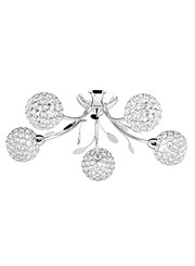 Searchlight Bellis Ii 5 Semi-Flush Ceiling 5 Light - Chrome