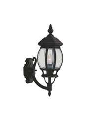 Searchlight Bel Aire Traditional Outdoor Wall Light - Black - Clear Glass