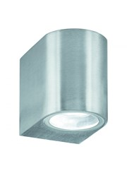 Searchlight Outdoor & Porch Wall Downlight - Satin Silver - Ip44