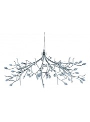 Searchlight Willow Maple Leaf Ceiling 10 Light - Chrome - Crystal Leaves