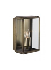 Searchlight Outdoor Wall & Porch  Light - Antique Brass Rectangle Box - Candle