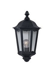 Searchlight Alex Traditional Outdoor Wall Light - 1 Light - Black