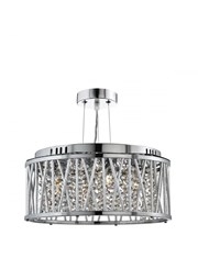 Searchlight Elise Ceiling Pendant 3 Light - Chrome - Clear Crystal Drops