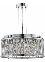 Searchlight Elise Ceiling Pendant 4 Light - Chrome - Clear Crystal Drops