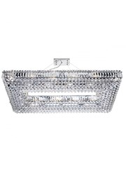 Searchlight Vesuvius 26  Light Rectangle Crystal Chandelier - Chrome & Crystal