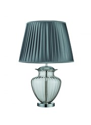 Searchlight Table Lamp Large Glass Urn - Smoked Glass - Chrome - Grey Shade