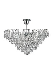 Searchlight Limoges Semi Flush Ceiling 3 Light - Sunflower Crystals