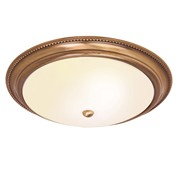 Endon Atlas Flush Ceiling Light - Antique Brass