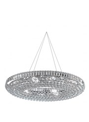 Searchlight Vesuvius 24  Light Oval Crystal Chandelier - Chrome & Crystal
