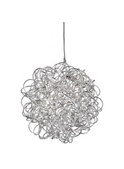 Searchlight Scribble 6 Light Pendant - Diamond Cut Tangled Aluminum