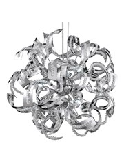 Searchlight Curls  12 Light Pendant - Glass Beads - Chrome