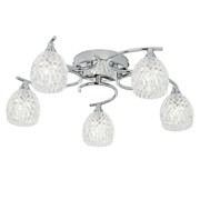 Endon Boyer Semi Flush Ceiling Light - Chrome - 5 Light