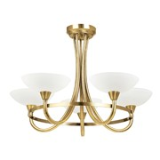 Endon Cagney Semi Flush Ceiling Light - Antique Brass - 5 Light
