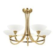 Endon Cagney Semi Flush Ceiling Light - Antique Brass - 5 Light