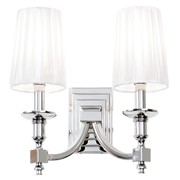 Endon Domina Wall Light - 2 Light - Nickel