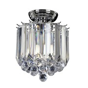 Endon Fargo Flush Ceiling Light - Chrome - 2 Light