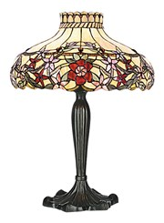 Milano Red Tiffany Style Stained Glass Antique Table Lamp