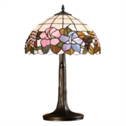 Lily Large Tiffany Style Stained Glass Traditional Table Lamp