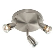 Endon Amalfi Triple Spotlight - Adjustable - Satin Nickel