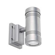 Endon Gigo LED Up & Down Swivel Head Outdoor Wall Light - Aluminium - IP55