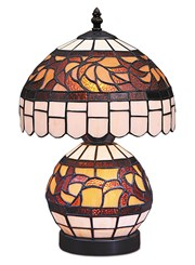 Tiffany Style Valencia Dual Stained Glass Table Lamp