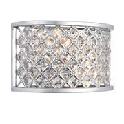 Endon Hudson Wall Light - Chrome & Crystal Beads