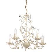 Endon Lullaby Flower Detail Ceiling Light - Cream & Gold - Cream Shade - 5 Light