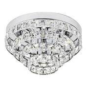 Endon Motown Flush Ceiling Light - Polished Chrome & Glass Beads - 4 Light