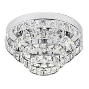 Endon Motown Flush Ceiling Light - Polished Chrome & Glass Beads - 4 Light