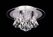 Endon Renner Crystal Droplet Flush Fitting - 3 Light