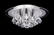 Endon Renner Crystal Droplet Flush Fitting - 5 Light