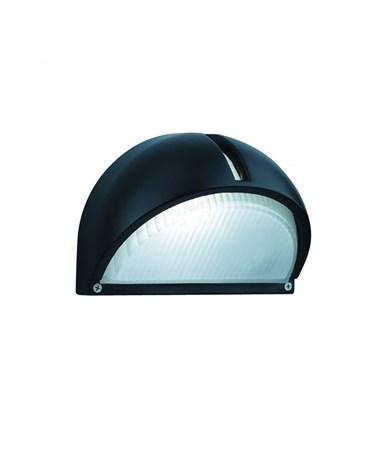 Searchlight Outdoor & Porch Wall Light-  Black Aluminium - Half Moon