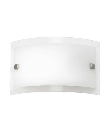 Endon Phelps 200mm Curved Glass Wall Light