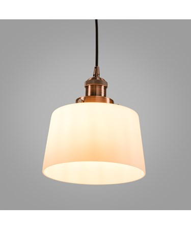 Santa Monica Trendy Industrial Copper & Glass Pendant Light