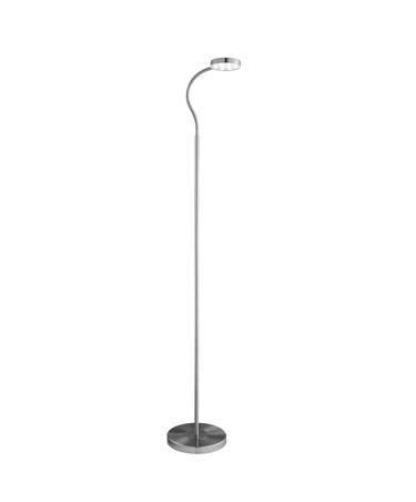 Searchlight Adjustable Led Round Flexi-Head Floor Lamp - Satin Silver