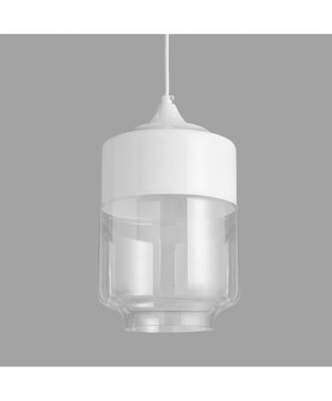 Cassia Modern White Metal & Glass Designer Pendant Ceiling Light