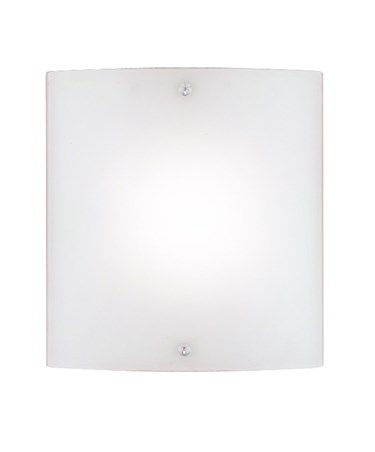 Searchlight Curved Square Wall Light - Frosted Glass - Chrome Trim - Medium