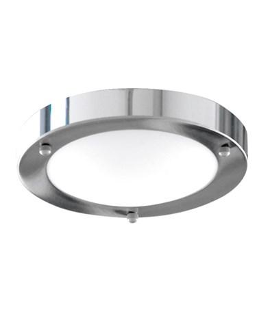 Searchlight Bathroom Flush Light - Domed Opal Glass Diffuser - Chrome