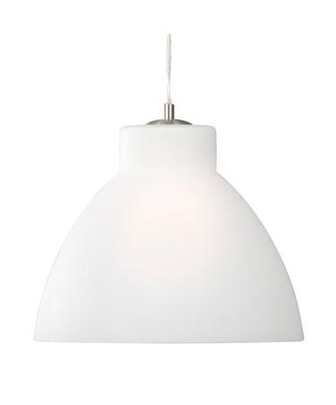 Searchlight Opal Single Pendant Light - 30Cm - Satin Silver Trim