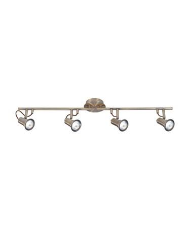 Searchlight Eros 4 Light Spotlight Bar - Antique Brass - Adjustable